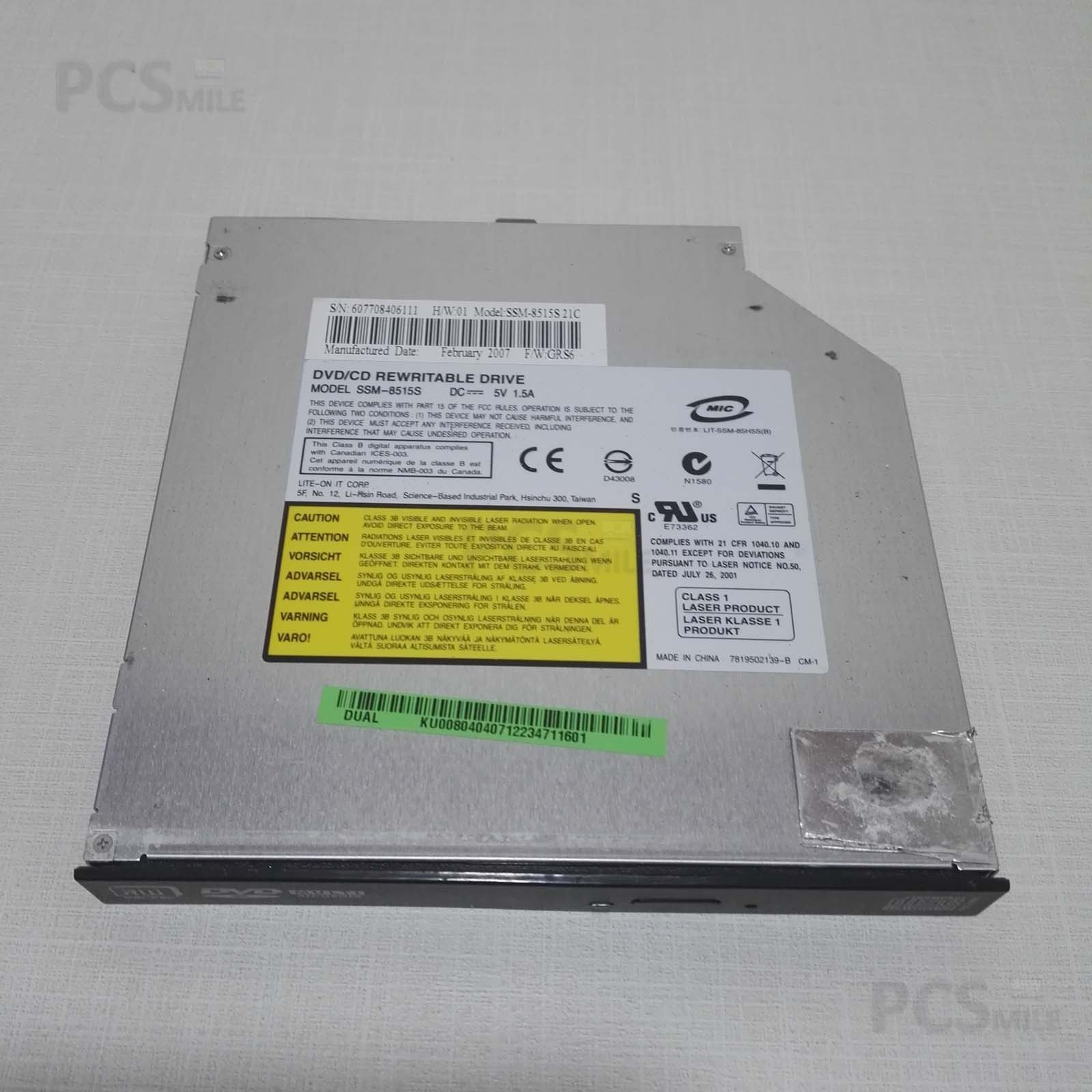 Acer Aspire 5630 bl50 SSM-8515S Lettore CD originale Acer compreso di mascherina