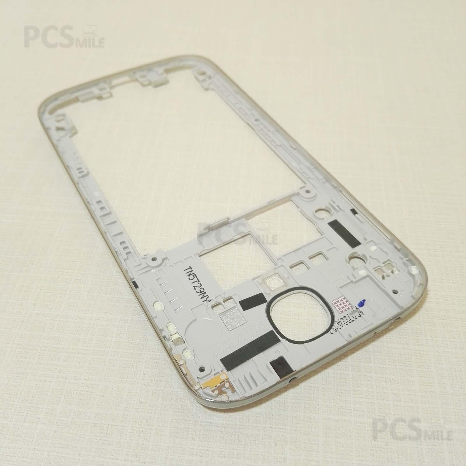 Back cover originale Samsung Galaxy S4 Gt-I9505 I9500 frame argentato bordo