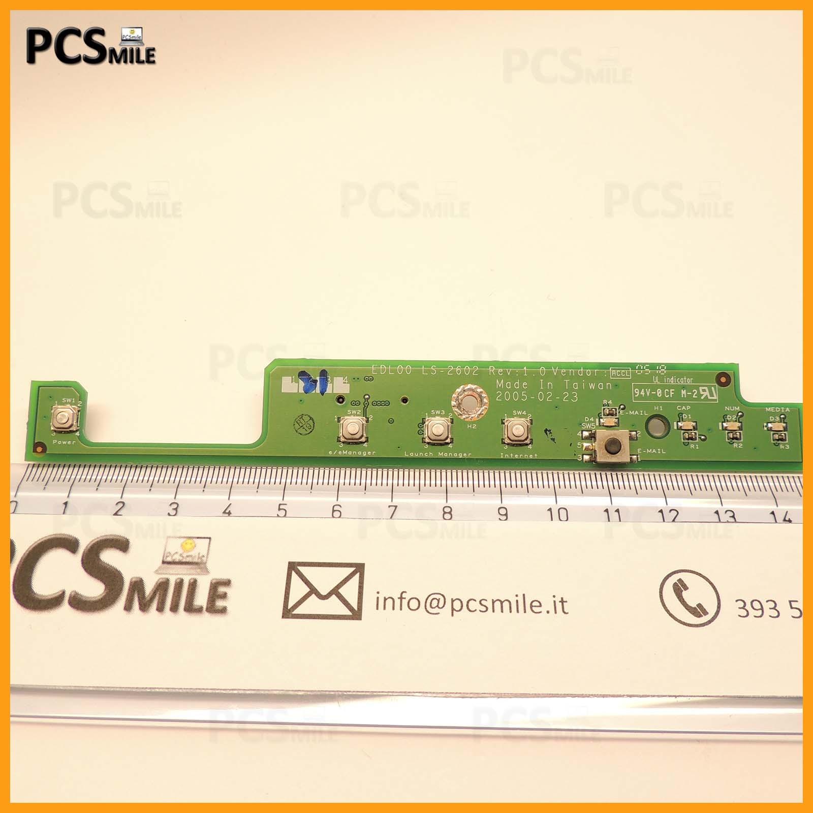 Bottone accensione Acer 4150 DL00 EDL00 L5-2602 REV: 1 VENDOR