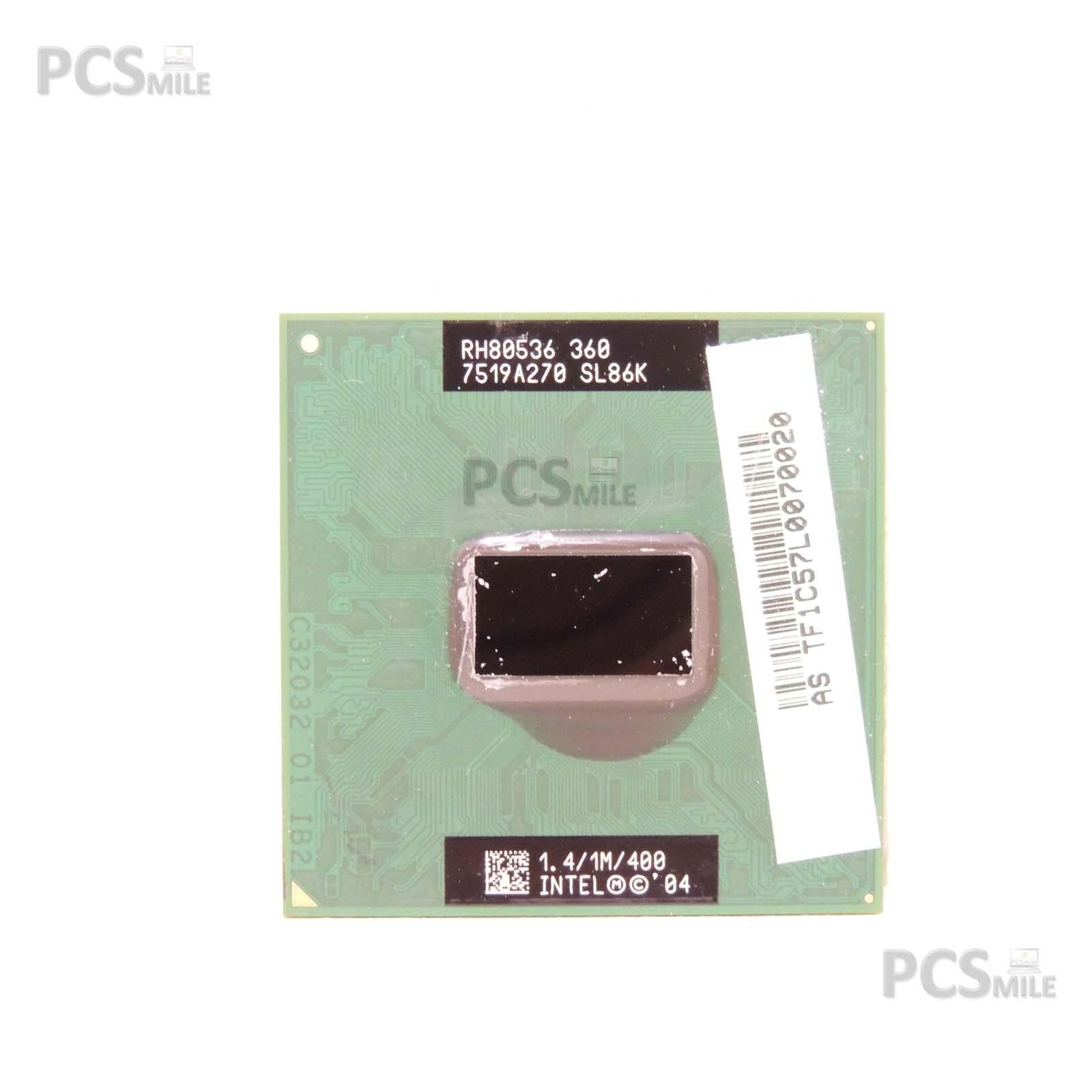 CPU RH80536 7519A270 SL86K 1.4/1M/400 PROCESSORE INTEL CELERON M360 ASUS A3000