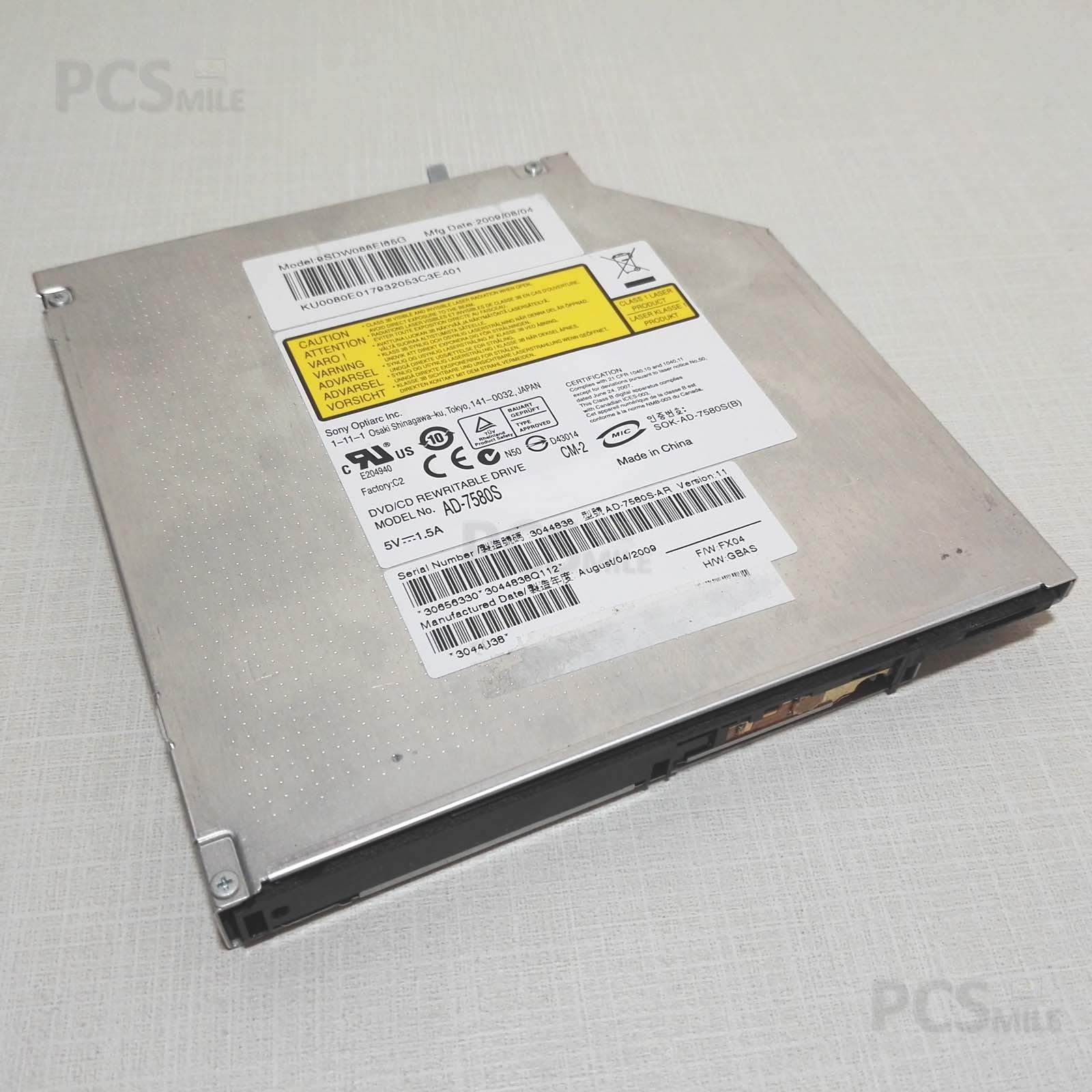 Lettore CD DVD KU0080E017932053C3E401 AD-7580S HP G62 serie e altri notebook