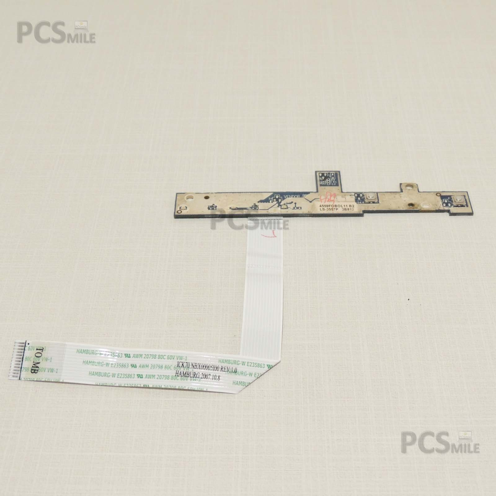 Power button Acer Aspire 7520 Series ICK70 LS-3557P 4559F0B0L11 tasto accensione