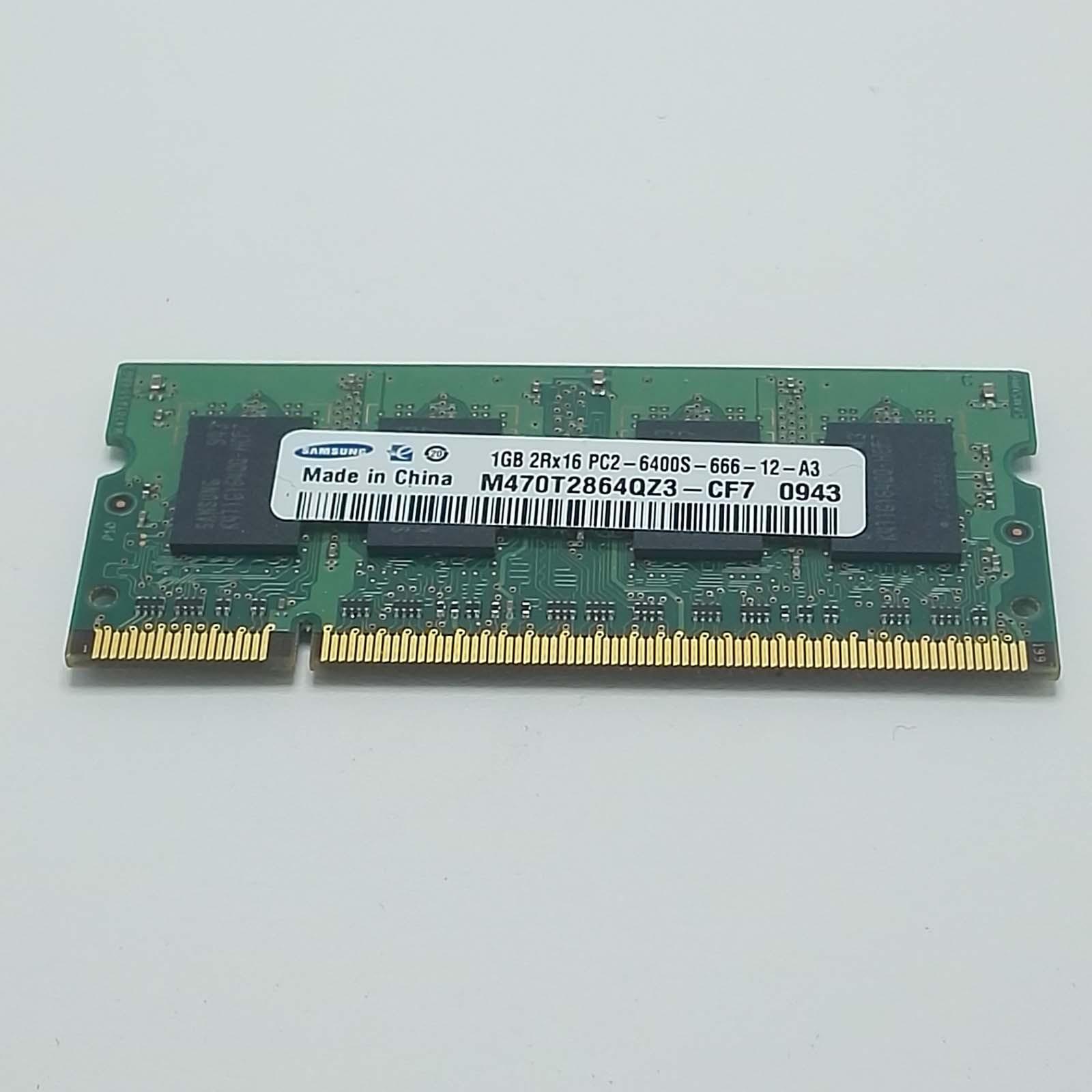 RAM 1GB DDR2 SODIMM 200pin PC2-6400 800MHz Samsung M470T2864QZ3-CF7