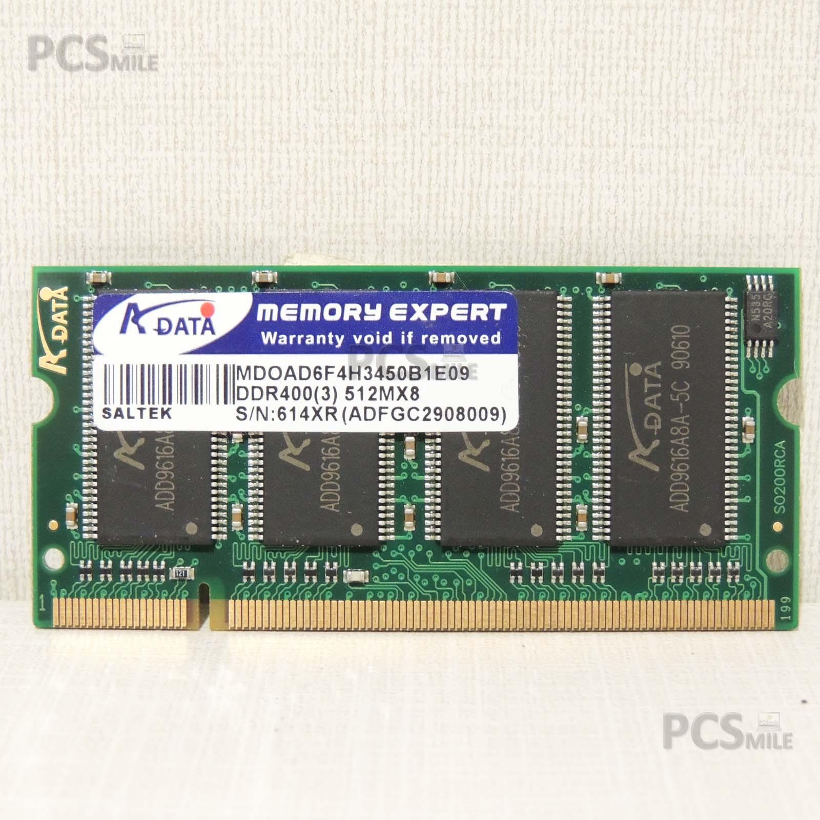 RAM 512MB DDR400 ADATA MEMORY EXPERT MDOAD6F4H3450B1E09 ADFGC2908009
