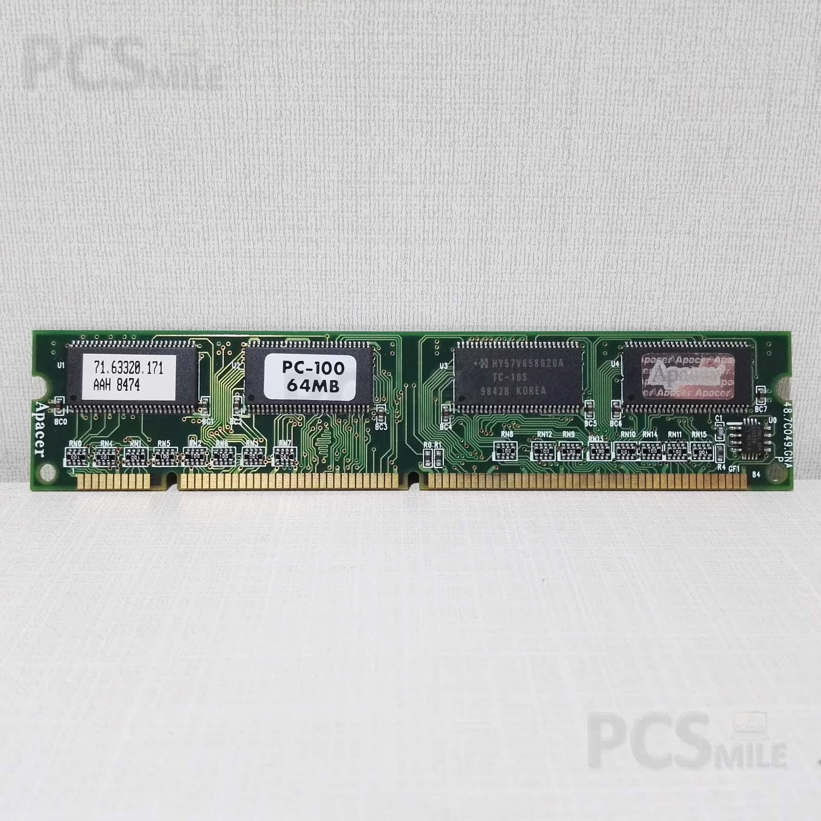 RAM 71.63320.171 AAH 8474 PC100 64MB APACER DDR