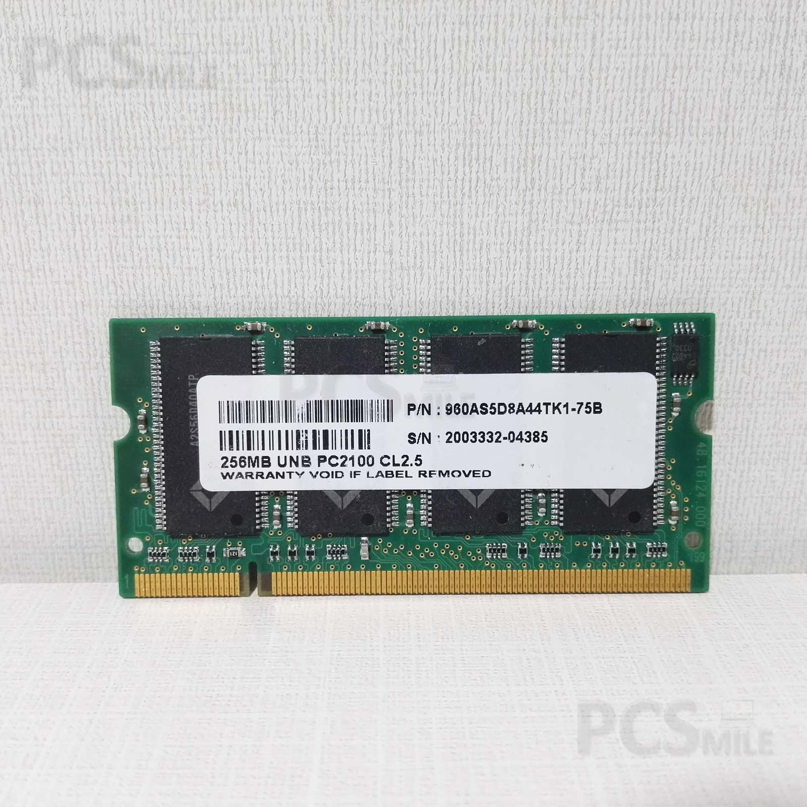 RAM Apacer 256mb 960AS5D8A44TK1-75B PC2100 CL2.5