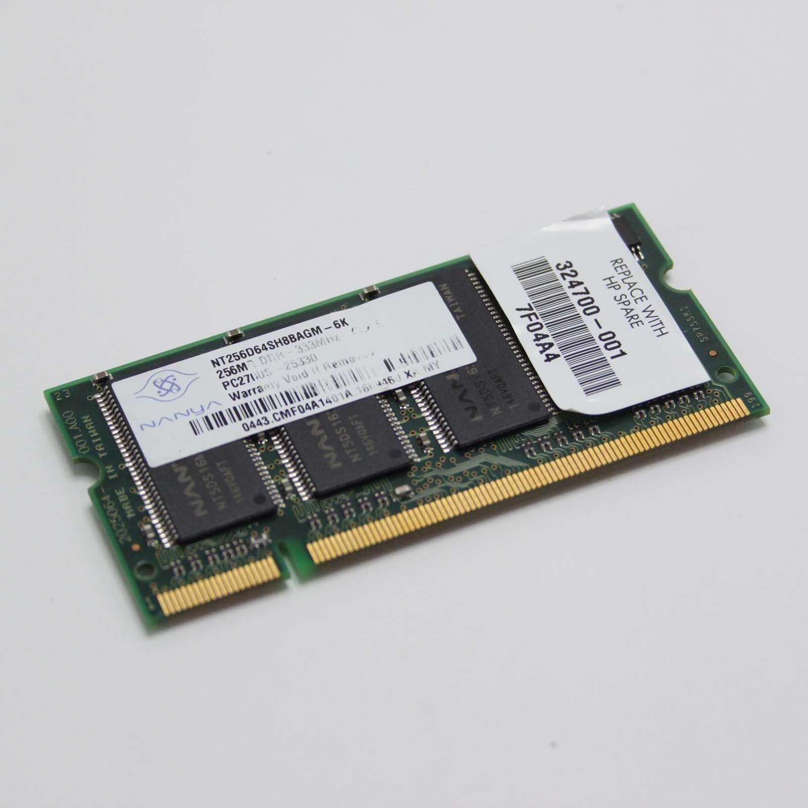 RAM HP Pavilion ZD7000 NANYA 512MB 2X256MB DDR PC2700 NT256D64SH8BAGM-6K