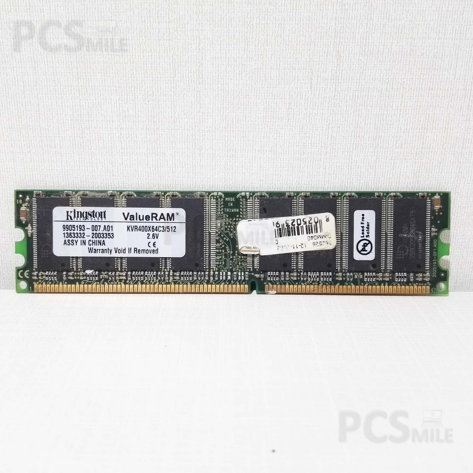 RAM KINGSTON DDR2 KVR400X64C3/512 2,6V