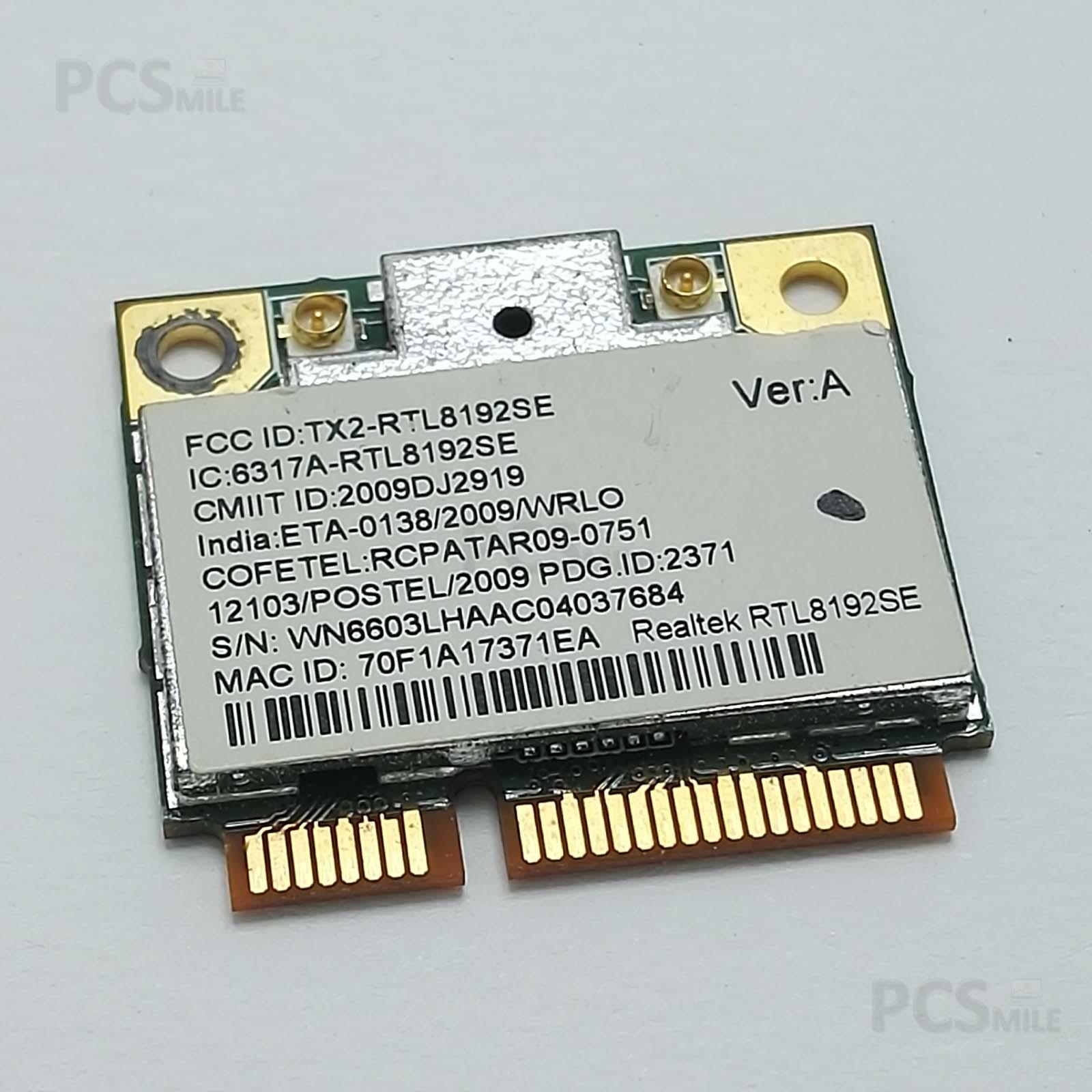 Realtek RTL8192SE Packard bell Acer Toshiba WN6603LH V01 scheda WiFi PCI