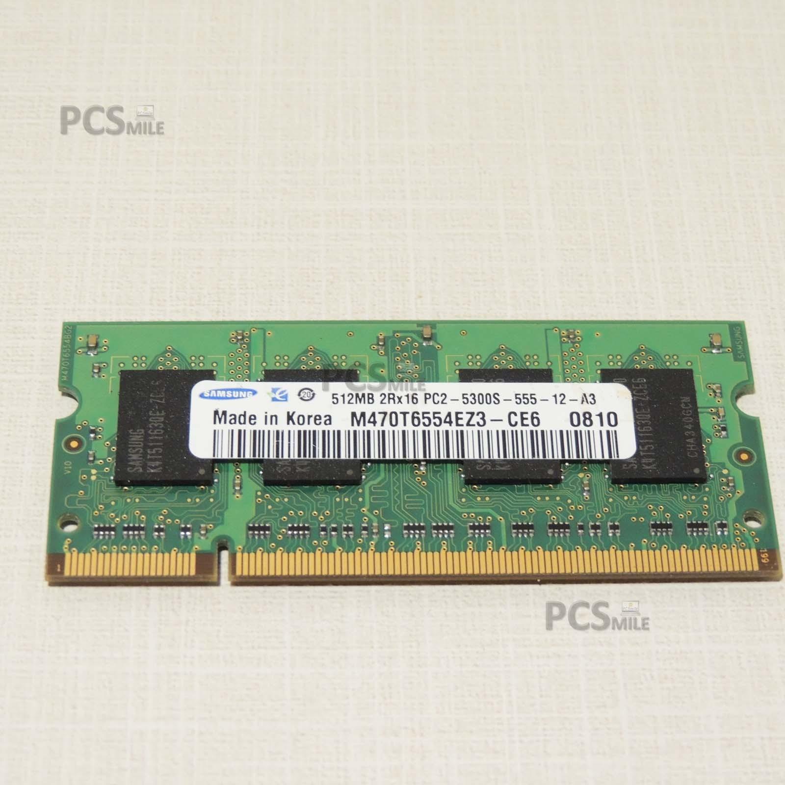 SAMSUNG M470T6554EZ3-CE6 512MB 200p PC2-5300 CL5 DDR2-667 2Rx16 1.8V